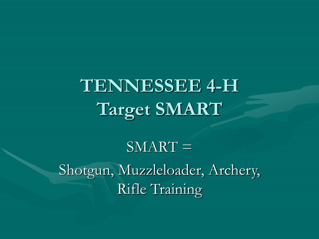 tennessee 4 h target smart l.