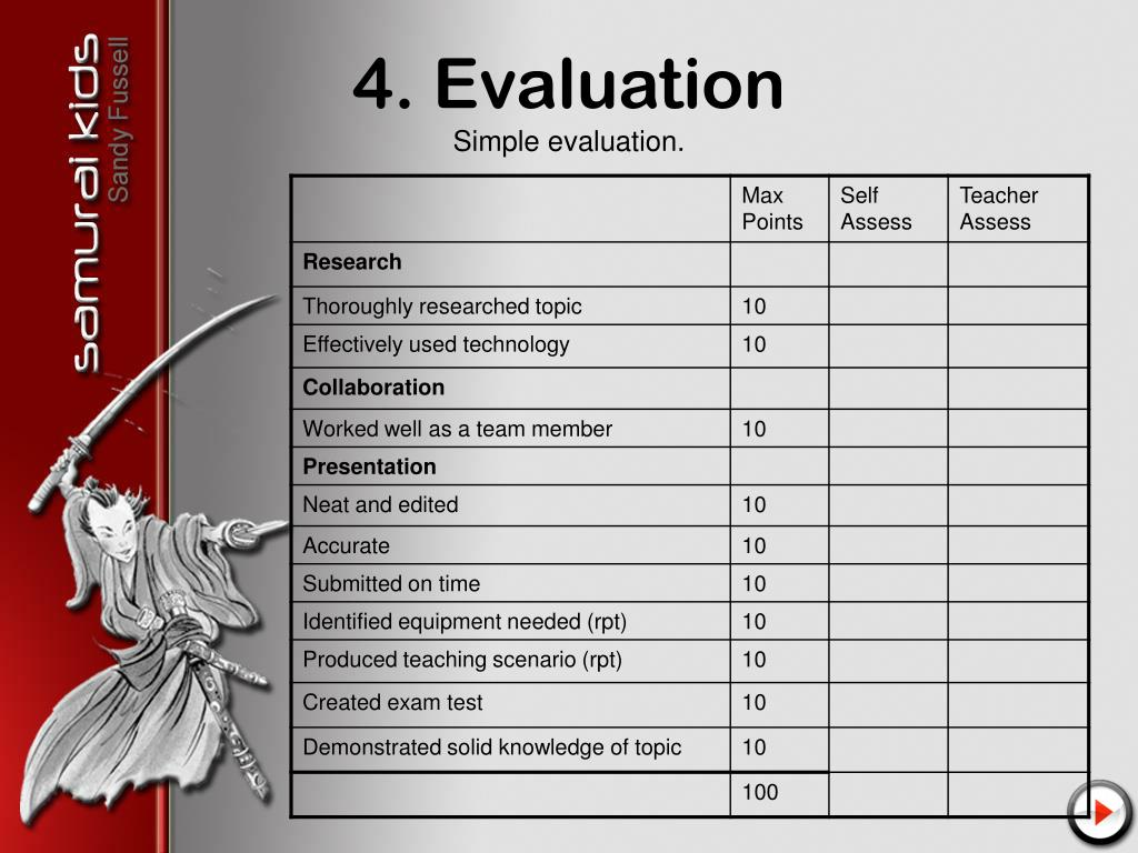 4. Evaluation