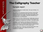 the calligraphy teacher