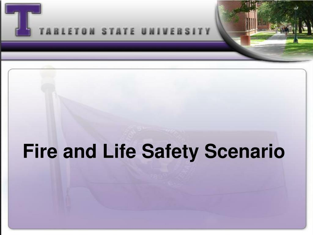 Fire and Life Safety Scenario
