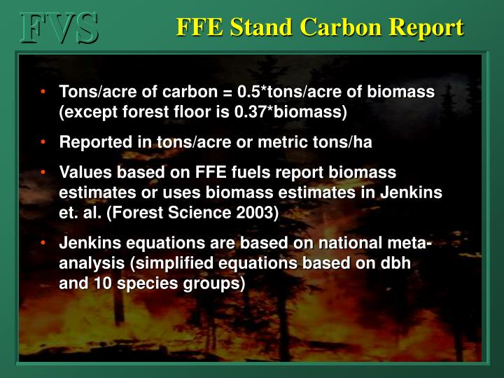 FFE Stand Carbon Report