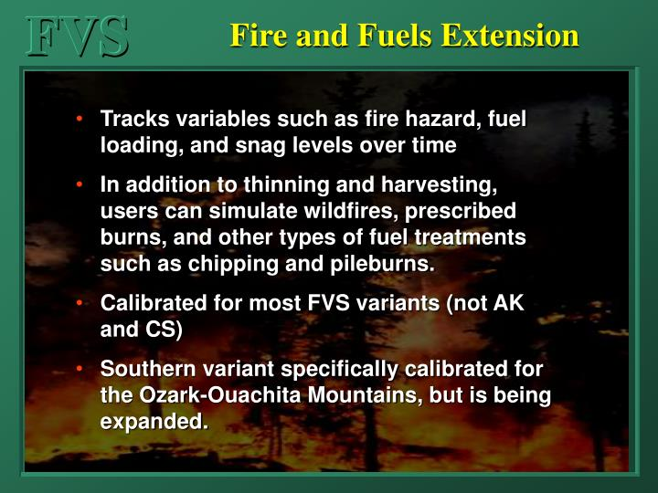 Fire and Fuels Extension