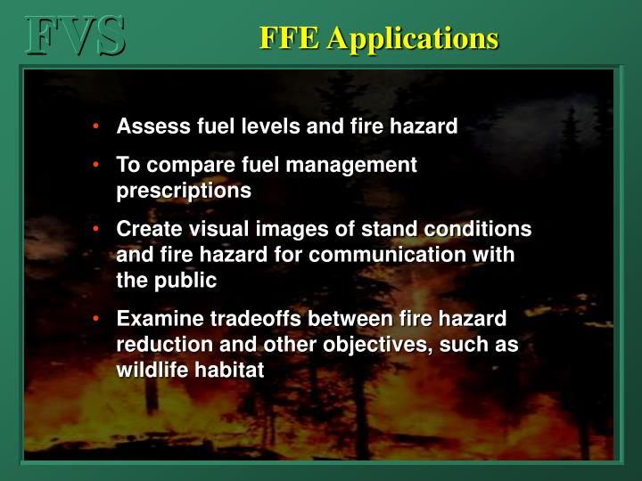 FFE Applications