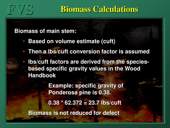 Biomass Calculations