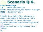 scenario q 6