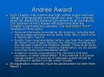 andree award