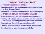 training courses at ncert
