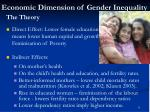 economic dimension of gender inequality11