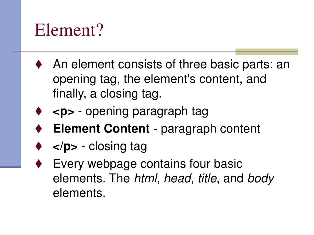 Element?