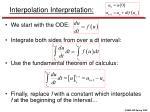 interpolation interpretation