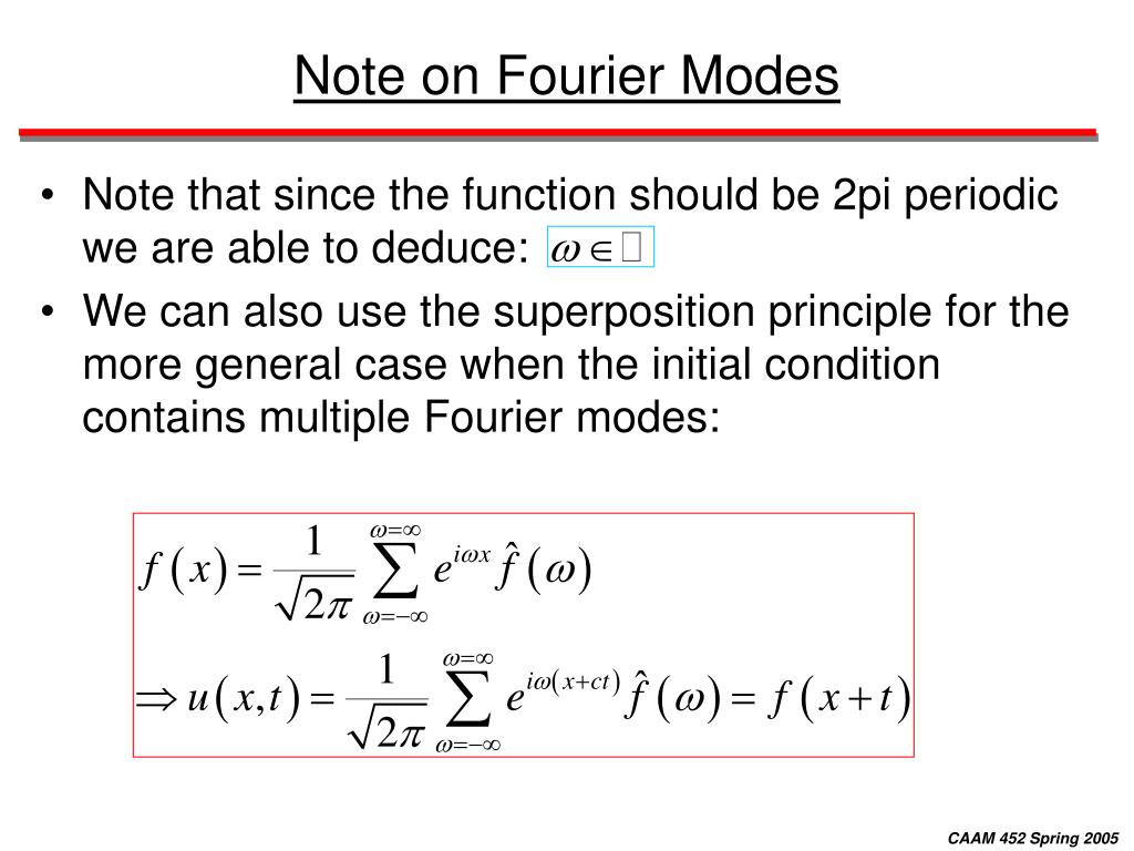 Note on Fourier Modes