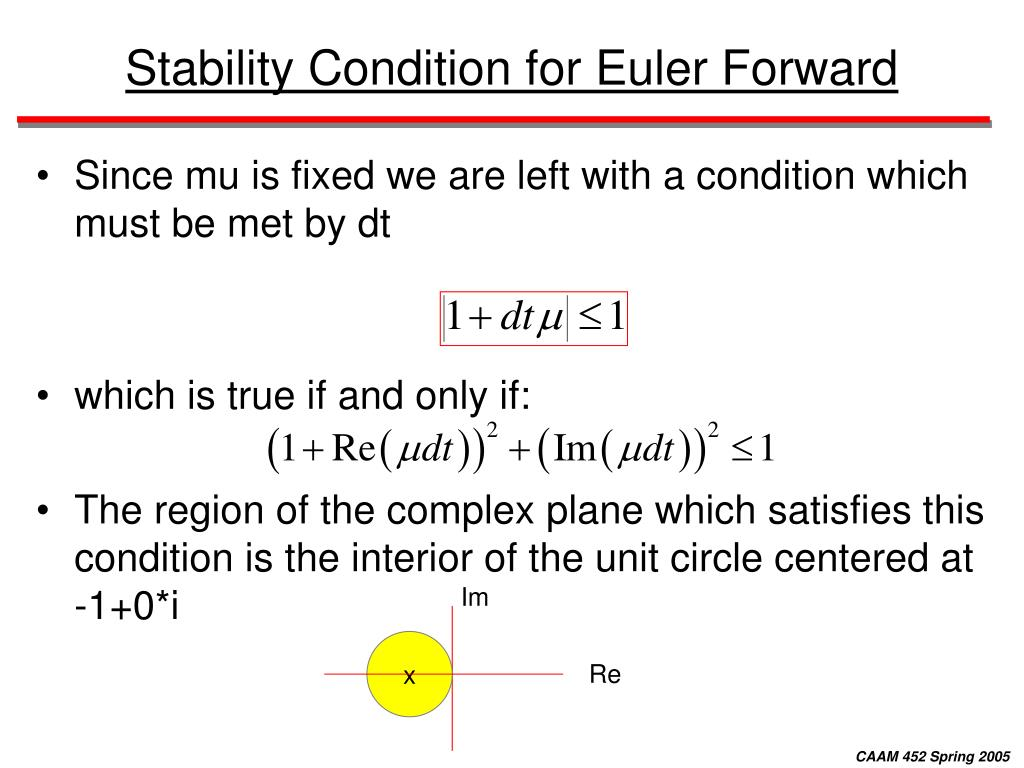 Stability Condition for Euler Forward