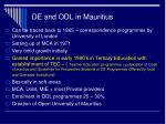 de and odl in mauritius