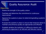 quality assurance audit