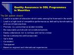 quality assurance in odl programmes in mauritius42