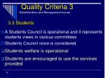 quality criteria 3 administrative and management issues25