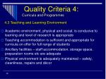 quality criteria 4 curricula and programmes29