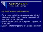 quality criteria 4 curricula and programmes36