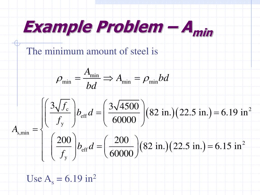 Example Problem – A