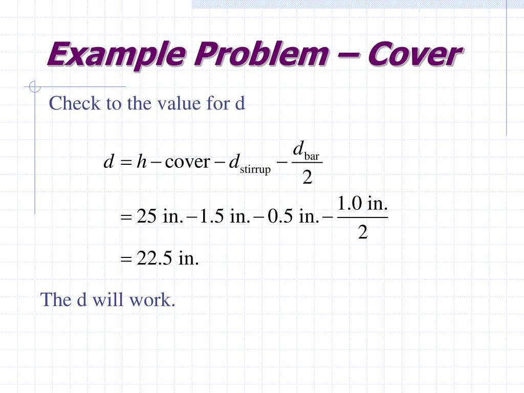 Example Problem – Cover