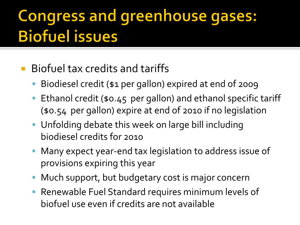 Congress and greenhouse gases: