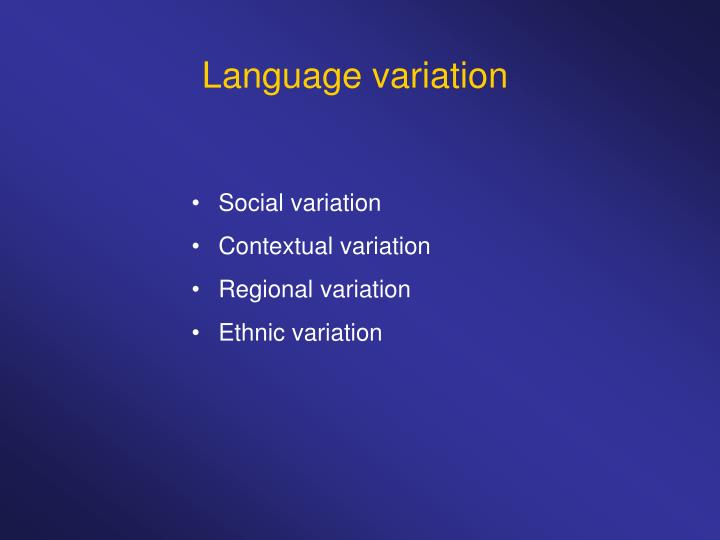 regional and social variation 95 a new methodology: data elicitation for social and regional language variation studies carmen llamas abstract this paper presents a new method of data elicitation for use in large-scale regional language.