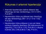 r kymas ir arterin hipertenzija