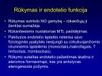 r kymas ir endotelio funkcija