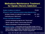 methadone maintenance treatment for opiate heroin addiction