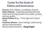 center for the study of politics and governance