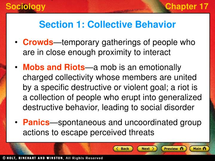 sociology ch 18 collective action social movements and social change Blackwell, ch 1 (pages 1-23), the study of social movements: collective behaviour, rational action, protests and new conflicts klandermans, bert and suzanne staggenborg 2002.