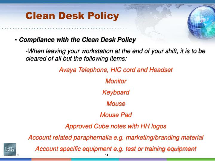Clean Desk Policy Template Clean Desk Policy Poster Hostgarcia