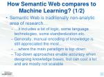 how semantic web compares to machine learning 1 2