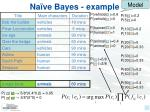 na ve bayes example