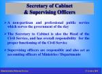 secretary of cabinet supervising officers