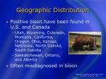 geographic distribution10