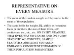 representative on every measure
