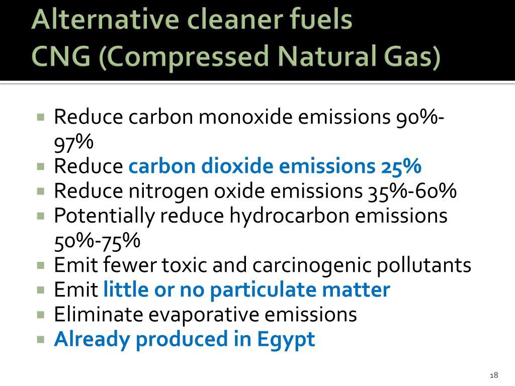 Alternative cleaner fuels
