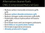 alternative cleaner fuels cng compressed natural gas