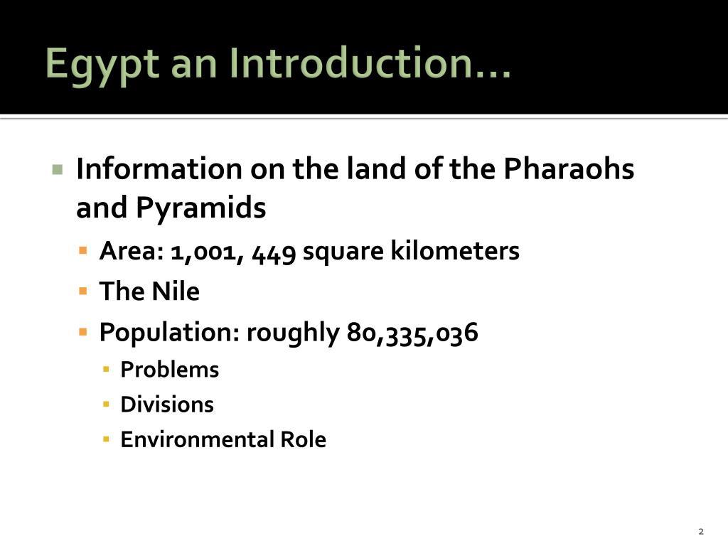 Egypt an Introduction…