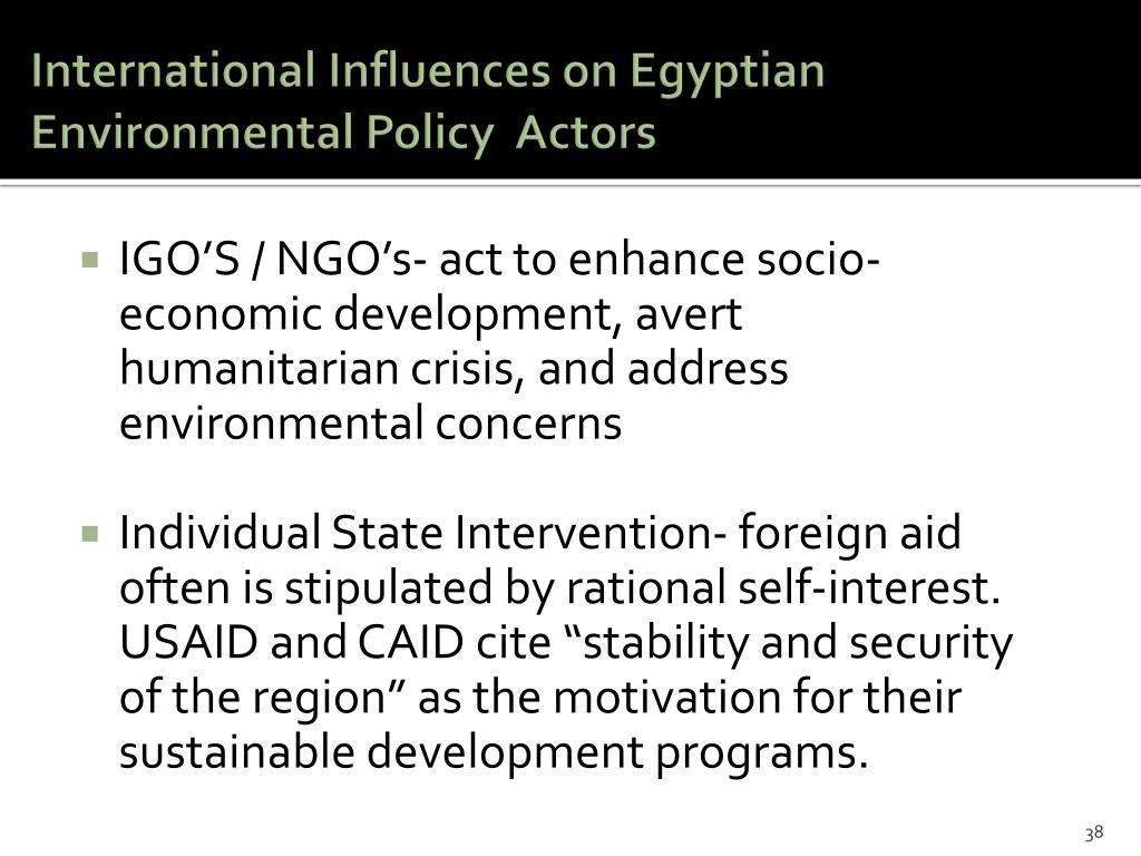 International Influences on Egyptian