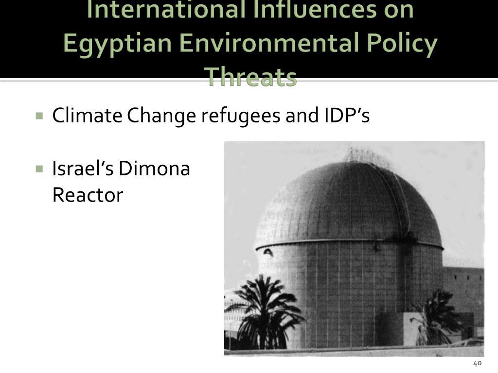 International Influences on Egyptian Environmental Policy Threats