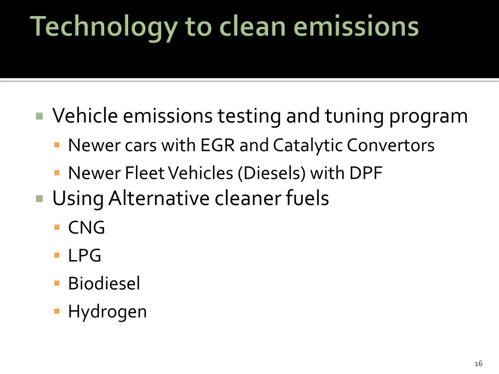 Technology to clean emissions