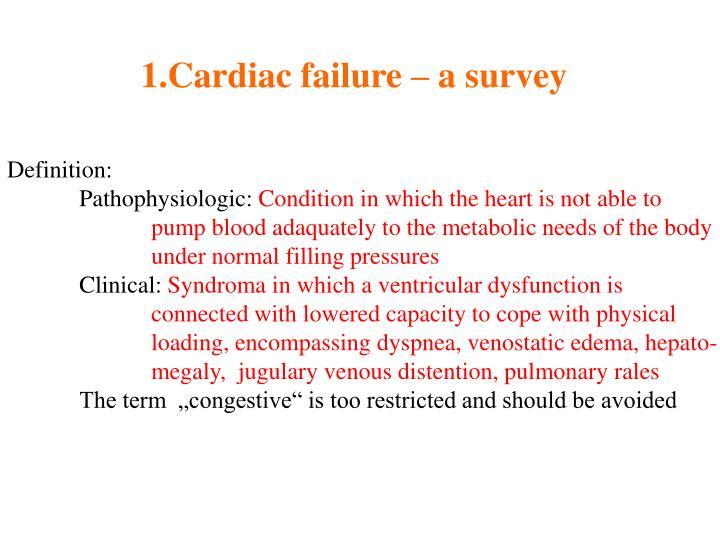 Cardiac failure – a survey