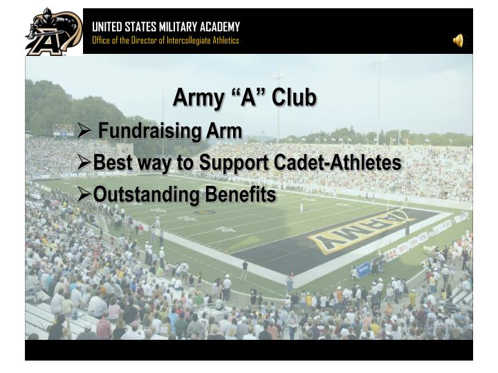 Army a club fundraising arm best way to support cadet athletes outstanding benefits