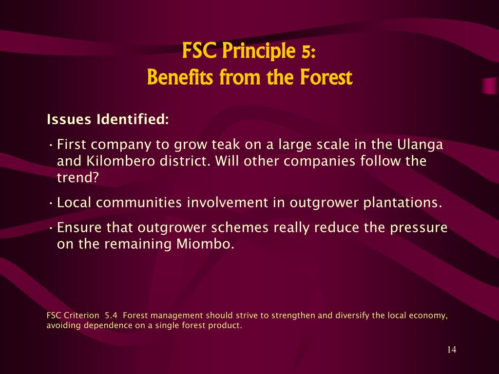 FSC Principle 5: