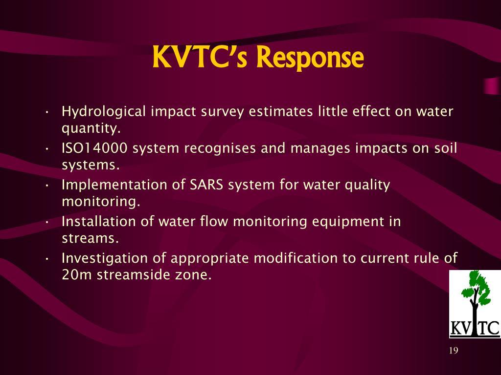 KVTC's Response