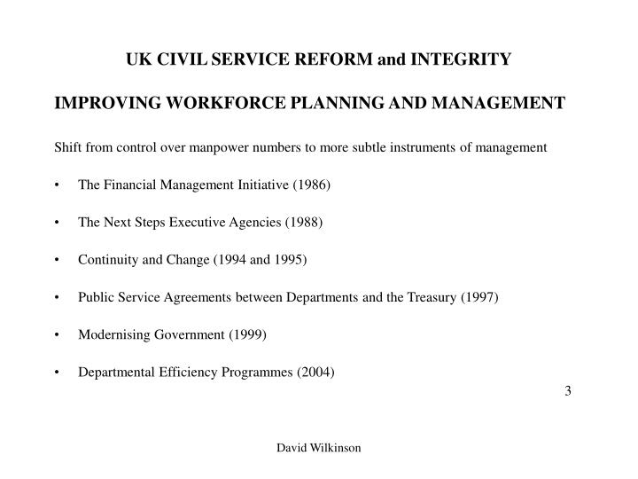 Uk civil service reform and integrity2