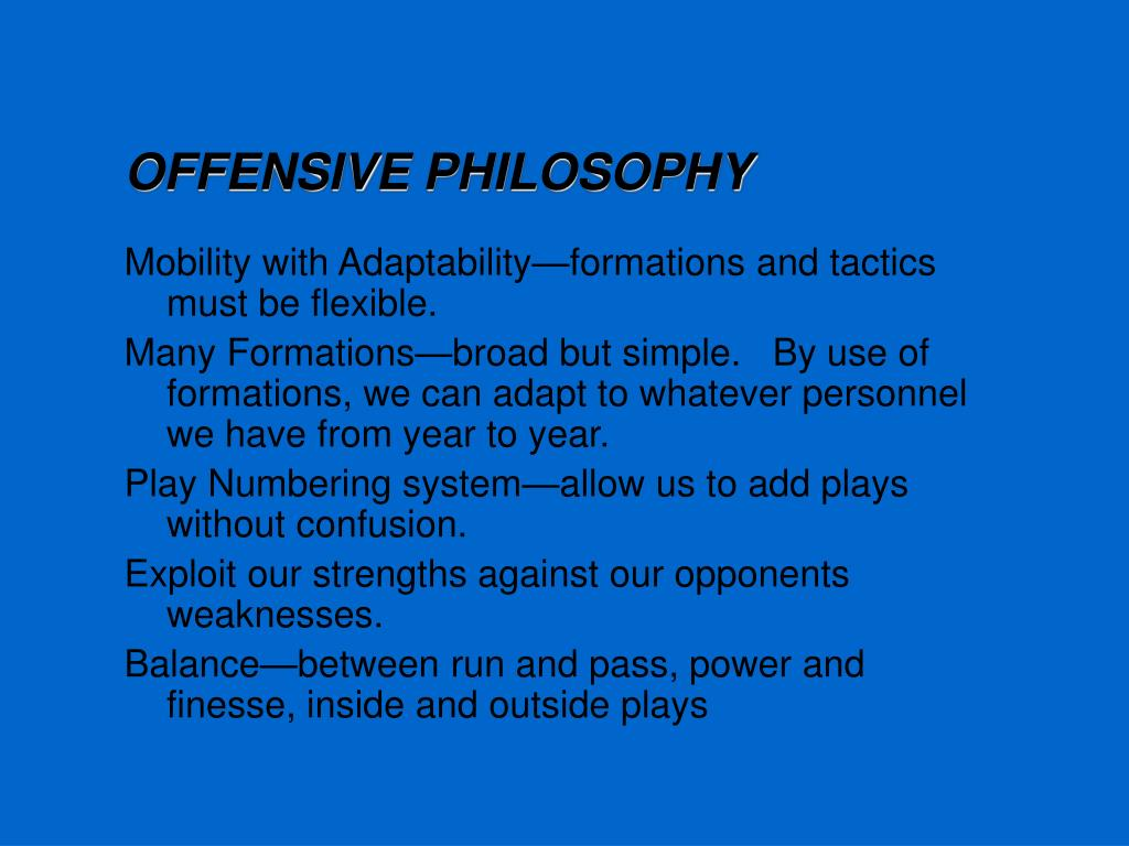OFFENSIVE PHILOSOPHY