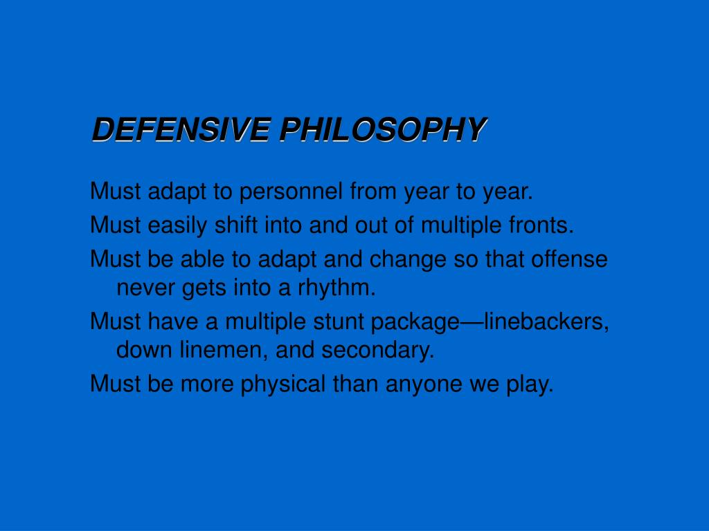 DEFENSIVE PHILOSOPHY